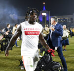 FILE - In this Nov. 19, 2018, file photo, Kansas City Chiefs wide receiver Tyreek Hill walks off the field after an NFL football game against the Los Angeles Rams, in Los Angeles. A criminal investigation into allegations that Kansas City Chiefs receiver Tyreek Hill's son was abused is no longer active but he and his fiancee remain under investigation by Kansas child welfare officials.  Johnson County District Attorney Steve Howe told The Kansas City Star Friday, June 7, 2019, that he would re-evaluate his decision if new evidence emerges. (AP Photo/Kelvin Kuo, File)