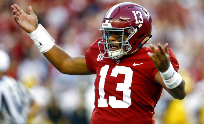 Alabama's Tagovailoa hurt in Missouri game