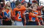 Auburn fans cheer the Tigers against Liberty during the first half of an NCAA college football game, Saturday, Nov. 17, 2018, in Auburn, Ala. (AP Photo/Vasha Hunt)