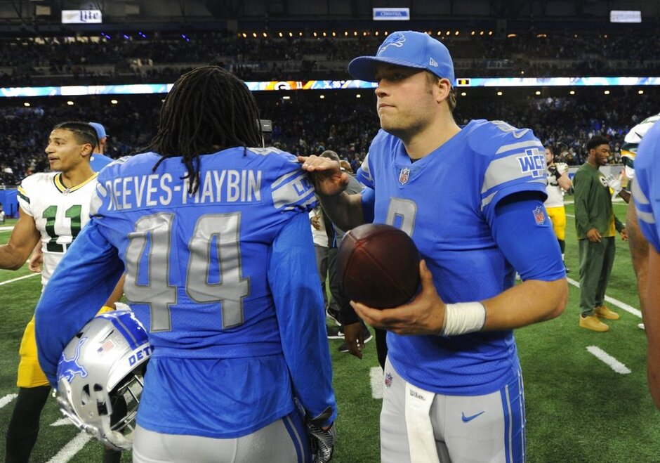 Jalen Reeves-Maybin, Matthew Stafford