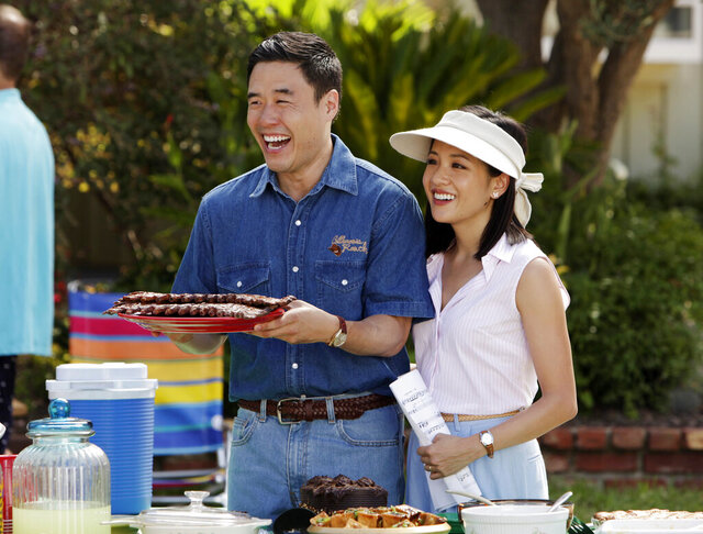 In this image released by ABC, Randall Park, left, and Constance Wu appear in a scene from the new comedy series
