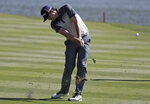 Keegan Bradley hits from the 18th fairway during the first round of The Players Championship golf tournament Thursday, March 14, 2019, in Ponte Vedra Beach, Fla. (AP Photo/Lynne Sladky)