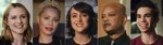 This combination photo shows actors, from left, Evan Rachel Wood, Jada Pinkett Smith Mara Wilson, Todd Bridges and Cameron Boyce, who are featured in the documentary