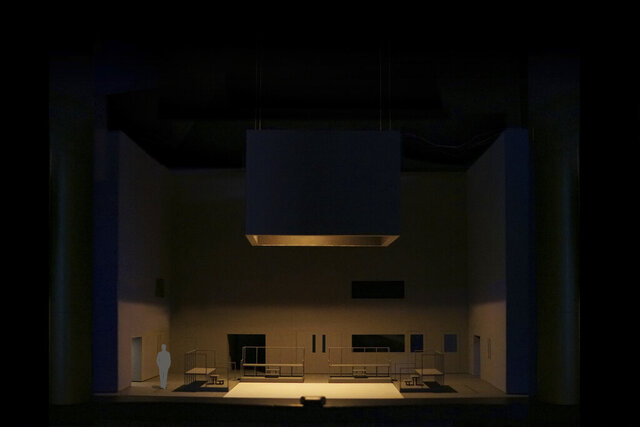 This undated photo provided by the Metropolitan Opera shows set model by Jan Versweyveld for the new production of Jake Heggie's