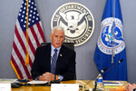 Vice President Mike Pence speaks during a briefing about the upcoming presidential inauguration of President-elect Joe Biden and Vice President-elect Kamala Harris, at FEMA headquarters, Thursday, Jan. 14, 2021, in Washington. (AP Photo/Alex Brandon, Pool)