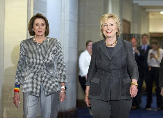Hillary Clinton, Nancy Pelosi