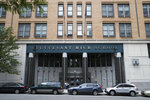 FILE- This June 6, 2018 file photo shows Stuyvesant High School in New York. Schools across New York began the 2019-2020 academic year with a new tool intended to prevent student suicides or violence: The ability to ask a court to cut off gun access for pupils who might be dangerous to themselves or others. (AP Photo/Mary Altaffer, File)
