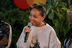 Mystic Marley participates in the Q&A panel at the Marley Brunch with Marley Family Members at the 1 Hotel West Hollywood on Friday, Jan. 24, 2020, in West Hollywood, Calif. (Photo by Willy Sanjuan/Invision/AP)