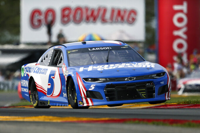 Larson finally chases down Hamlin atop NASCAR standings