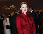 Greta Gerwig attends the 92nd Academy Awards Nominees Luncheon at the Loews Hotel on Monday, Jan. 27, 2020, in Los Angeles. (Photo by Danny Moloshok/Invision/AP)