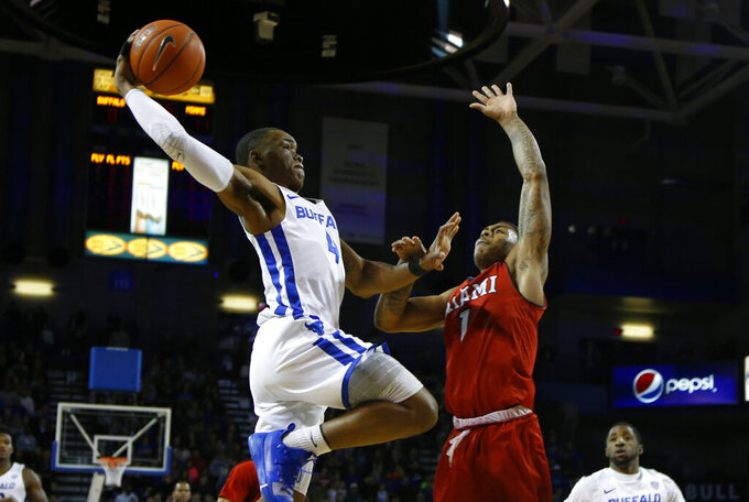 Harris leads No. 19 Buffalo in 88-64 win over Miami (Ohio)