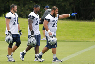 Zack Martin, Travis Frederick, Tyron Smith