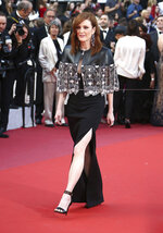 Julianne Moore poses for photographers upon arrival at the premiere of the film 'Les Miserables' at the 72nd international film festival, Cannes, southern France, Wednesday, May 15, 2019. (Photo by Joel C Ryan/Invision/AP)