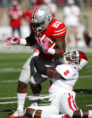 Mike Weber, Tegray Scales