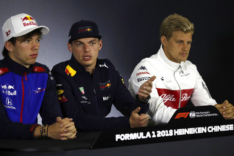 Max Verstappen, Pierre Gasly, Marcus Ericsson