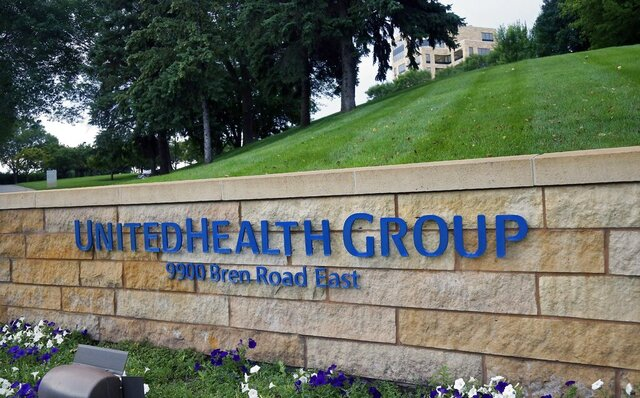 FILE - This July 12, 2019 file photo shows the UnitedHealthcare headquarters in Minneapolis.  UnitedHealth Group will spend nearly $8 billion in cash to add a health care technology company to its growing Optum business. UnitedHealth said Wednesday, Jan. 6, 2021 that it will add Change Healthcare to its OptumInsight segment and boost its ability to provide data analytics and revenue cycle management support, among other offerings. (AP Photo/Jim Mone, File)