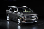 The 2021 Chevrolet Suburban High Country is unveiled in Detroit, Tuesday, Dec. 10, 2019. (AP Photo/Paul Sancya)