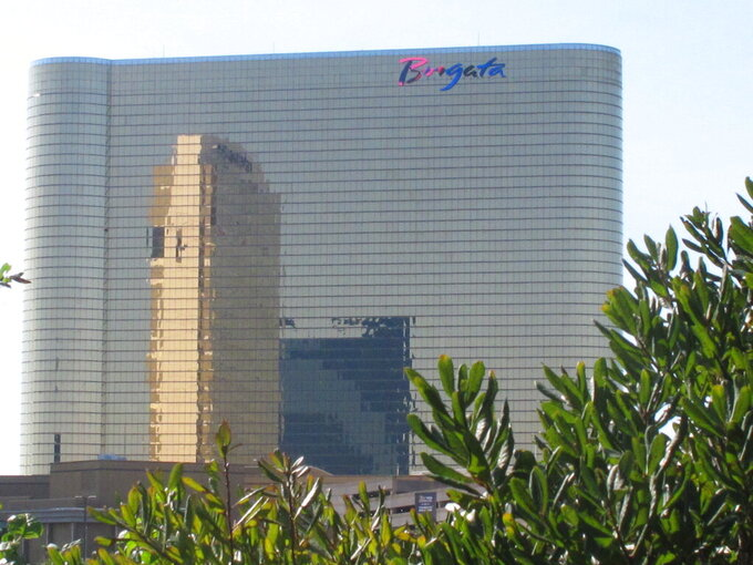 This Oct. 1, 2020 photo shows the exterior of the Borgata casino in Atlantic City, N.J. On April 16, 2021, New Jersey gambling regulators released statistics showing that the Atlantic City casinos more than doubled their gambling revenue in March 2021 compared to a year earlier, when casinos were forced to shut down in mid-March due to the coronavirus pandemic. Both the Borgata and Hard Rock casinos posted identical revenue increases of 178.2% this March. (AP Photo/Wayne Parry)
