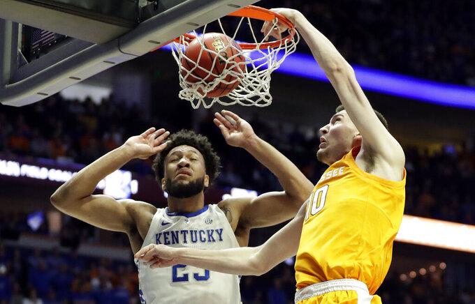 No. 8 Tennessee rallies past No. 4 Kentucky 82-78