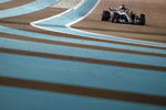 Mercedes driver Lewis Hamilton of Britain steers his car during the Emirates Formula One Grand Prix at the Yas Marina racetrack in Abu Dhabi, United Arab Emirates, Sunday, Nov. 25, 2018. (AP Photo/Hassan Ammar)