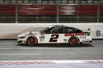 Brad Keselowski drives during a NASCAR Cup Series auto race at Charlotte Motor Speedway Thursday, May 28, 2020, in Concord, N.C. (AP Photo/Gerry Broome)