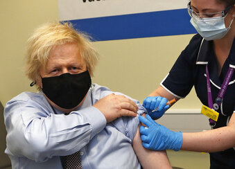 Just over half of UK adults have gotten at least one dose of the COVID-19 vaccine