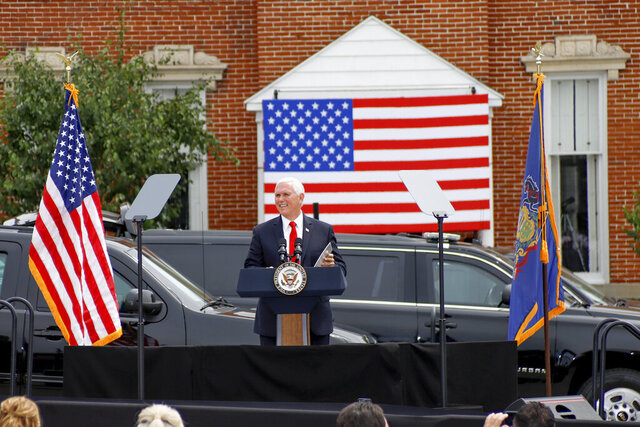 Vice President Mike Pence speaks at a