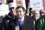 Wisconsin Attorney General Josh Kaul speaks during the We Are the 80% rally on Thursday, Nov. 7, 2019 at the State Capitol in Madison. The rally was to demand that Wisconsin legislative leaders allow a vote on the lifesaving gun violence proposals, which have the overwhelming support of Wisconsin voters.. (Steve Apps /Wisconsin State Journal via AP)