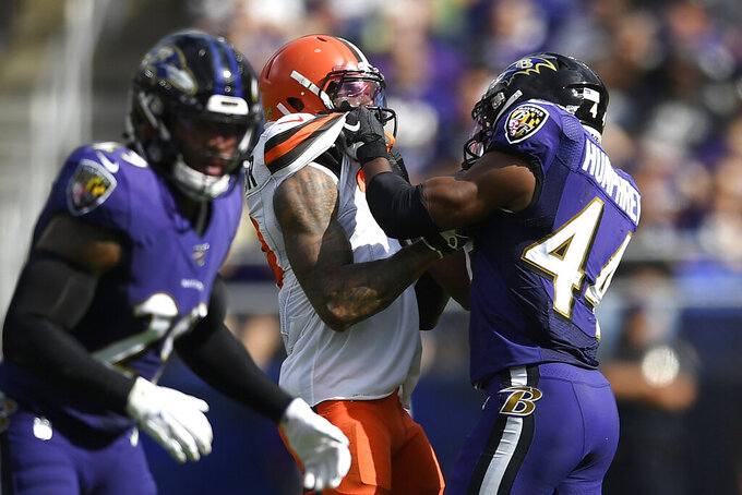 Browns shocked, amused Ravens denying Humphrey choked OBJ