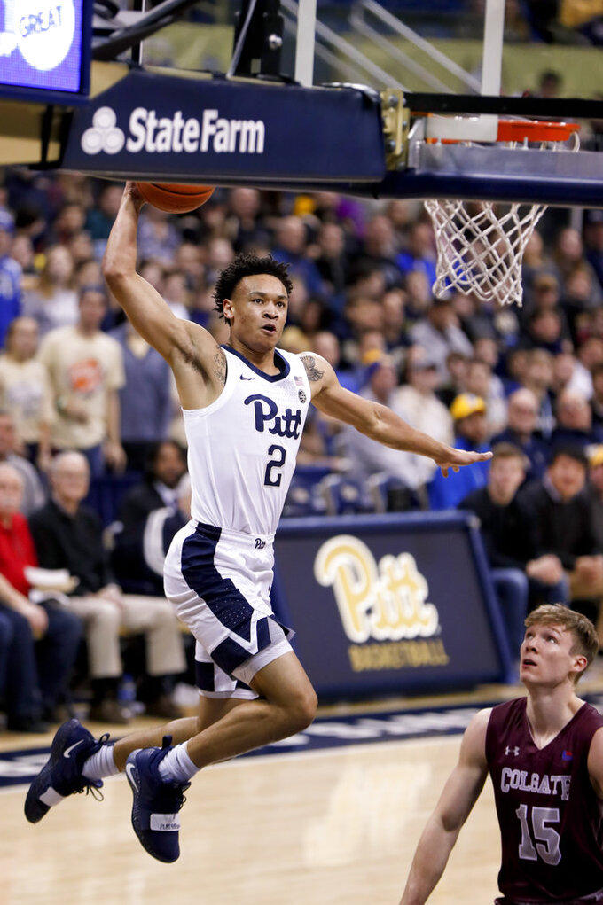 Frosh McGowens leads Pitt in win over Colgate
