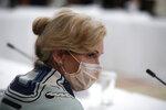 Dr. Deborah Birx, White House coronavirus response coordinator listens during a