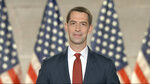 In this image from video, Sen. Tom Cotton, R-Ark., speaks from Washington, during the fourth night of the Republican National Convention on Thursday, Aug. 27, 2020. (Courtesy of the Committee on Arrangements for the 2020 Republican National Committee via AP)