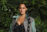 "FILE - In this Saturday, Feb. 8, 2020, file photo, Tracee Ellis Ross arrives at the Chanel Pre-Oscar Dinner at The Beverly Hills Hotel in Beverly Hills, Calif.  More than $5.1 million in funds were given to over 70 nonprofit organizations during the ""HFPA Philanthropy: Empowering the Next Generation"" virtual event on Tuesday, Oct. 13, 2020. Ross presented the Social Justice Grant to the Urban Peace Institute. (Photo by Willy Sanjuan/Invision/AP, File)"