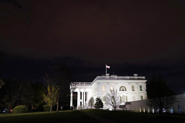 A view of the White House in Washington, Monday, Nov. 23, 2020. (AP Photo/Susan Walsh)