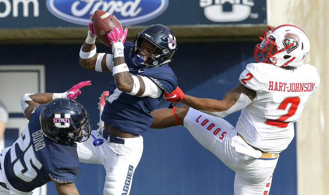 No. 18 Utah State tries to stay on top in Mountain Division
