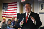 FILE - In this March 26, 2021, file photo former Secretary of State Mike Pompeo speaks at the West Side Conservative Club in Urbandale, Iowa. Less than three months after former President Donald Trump left the White House, the race to succeed him is already beginning. Pompeo, has launched an aggressive schedule visiting states that will play a pivotal role in the 2024 Republican primaries and he has signed a contract with Fox News Channel. (AP Photo/Charlie Neibergall, File)