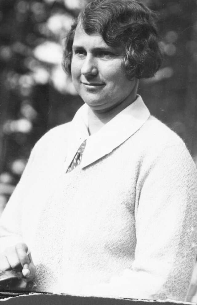 In this photo from the late 1920s, Marion Hollins is shown in Pebble Beach, Calif. Marion Hollins is the latest inductee for the World Golf Hall of Fame. She was a visionary in golf course architecture. She financed and developed a club only for women in New York in the early 1920s. And she was the brains behind Cypress Point Club and Pasatiempo in California. Hollins was elected through the contributor category. Hollins died in 1944 when she was 51. The Hall of Fame announced her election Friday, April 17, 2020. (Julian P. Graham/Loon Hill Studios via AP)