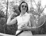 "FILE - In this Dec. 9, 1979, file photo, Gladys Madalie Heldman stands on a tennis court in Houston. Tennis promoter Heldman and Philip Morris helped the ""Original 9"" women form the Virginia Slims circuit in September 1970. (AP Photo/EFK, File)"