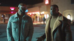 """This image provided by Bounce shows Deji LaRay, left, and Thomas Q. Jones in a scene from """"Johnson,"""" which premieres Aug. 1, 2021, on Bounce TV. (DeWayne Rogers/Bounce via AP)"""