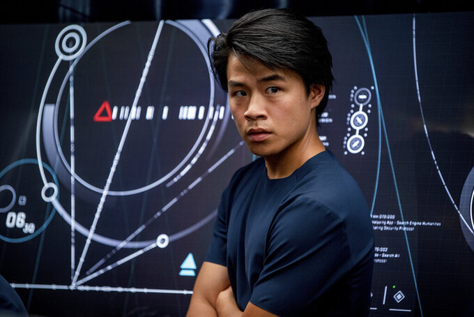 """This image released by Lionsgate shows Wern Lee in a scene from """"Voyagers."""" (Lionsgate via AP)"""