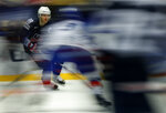 Patrick Kane of the United States skates on ice during the Ice Hockey World Championships group B match between united States and South Korea at the Jyske Bank Boxen arena in Herning, Denmark, Friday, May 11, 2018. (AP Photo/Petr David Josek)