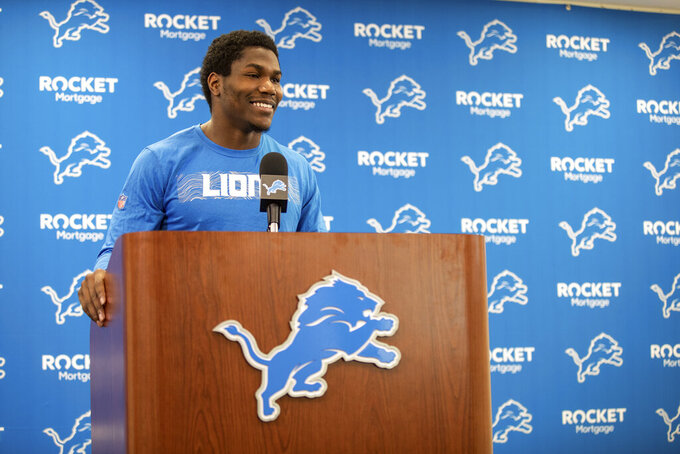 Kerryon Johnson looking forward to 2nd season with Lions