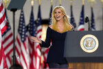 Ivanka Trump arrives to introduce President Donald Trump from the South Lawn of the White House on the fourth day of the Republican National Convention, Thursday, Aug. 27, 2020, in Washington. (AP Photo/Evan Vucci)
