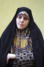 "In this Saturday, Sept. 8, 2018 photo, Shahindokht Molaverdi, a top adviser to Iran's president on human rights, gives an interview to The Associated Press at her office in Tehran, Iran. Molaverdi said that the government ""failed"" to help a U.S. permanent resident imprisoned over spying allegations that she invited to the country for a summit. She cited the case of Nizar Zakka, a Lebanese-born internet freedom advocate who had been living in the U.S. and is now serving 10 years in prison. (AP Photo/Ebrahim Noroozi)"