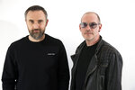 FILE - This April 12, 2019 file photo shows musicians Noel Hogan, left, and Fergal Lawler, of the Irish band The Cranberries, posing for a portrait in New York to promote their eighth and final album,