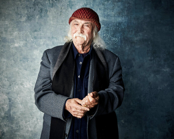 FILE - In this Jan. 26, 2019 file photo, David Crosby poses for a portrait to promote the film