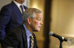 Iowa head football coach Kirk Ferentz speaks to members of the media about the 2019 Holiday Bowl during a press conference on Thursday, Dec. 26, 2019, in San Diego, Calif. (Bryon Houlgrave/The Des Moines Register via AP)