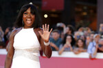FILE - Actress Viola Davis poses during a red carpet as she arrives at the Rome Film Fest on Oct. 26, 2019. Davis turns 55 on Aug. 11. (AP Photo/Andrew Medichini)