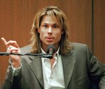 "FILE - In this March 21, 1995, file photo, Brian ""Kato"" Kaelin testifies under direct examination during the O.J. Simpson double-murder trial in Los Angeles. Kaelin, a struggling actor living in a guest house on Simpson's property, testified he heard a bump during the night of the murders and went outside to find Simpson in the yard, something prosecutors say showed Simpson was sneaking back home after the killings. (John McCoy/Los Angeles Daily News via AP, Pool, File)"