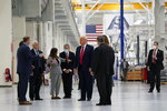President Donald Trump and first lady Melania Trump participate in a tour of NASA facilities before viewing the SpaceX Demonstration Mission 2 Launch at Kennedy Space Center, Wednesday, May 27, 2020, in Cape Canaveral, Fla. (AP Photo/Evan Vucci)